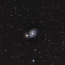 M-51 Whirlpool Galaxy,                                Jim Bakic