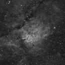 Cloud Sculpting Star Cluster (NGC6823) in Hα,                                Jose Carballada