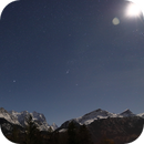 Moon, Orion and Bernese Alps,                                AstroEdy