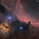 Horsehead & Flame Nebula reagion (Ha-RGB),                                pete_xl