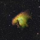 NGC281 (Pacman nebula) in Hubble-palette,                                Janos Barabas