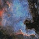 NGC 7000 North America Nebula in SHO,                                Roland Schliessus