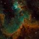 Heart Nebula (partial, SHO, IC 1805),                                Jim McKee