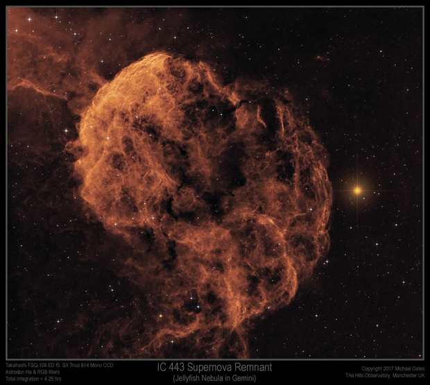 IC 443 Supernova Remnant (Jellyfish Nebula),                                Mike Oates