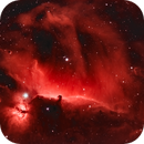 Horsehead and Flame Nebula in HSS,                                Tommy Lease