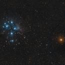 Pleiades_with_Mars_2021-03-03_250mm,                                Derek Dailey