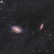 M81-M82 Les galaxies de Bode et du cigare,                                astromat89
