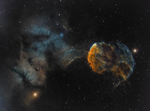 The Jellyfish Nebula - IC 443 and surrounding IC 444,                                Wissam_Astrophoto...