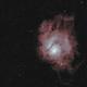 M8 Lagoon Nebula - False Color,                                C.Shine