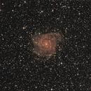 Galaxie IC 342 im Sternbild Giraffe (Camelopardalis) - uncropped,                                astrobrandy