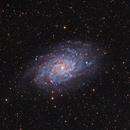 M33 - LRGB Ha - Triangulum galaxy,                                astrotaxi