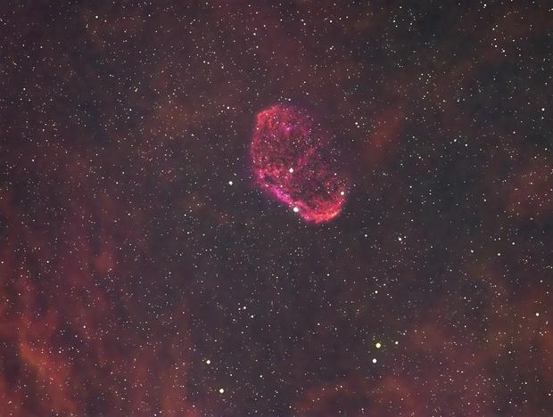 Crescent nebula HSO,                                CHume