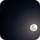 The Moon meets Jupiter and Galilean moons,                                drcmello
