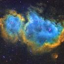 IC 1848 Soul Nebula narrowband,                                remidone