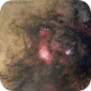 A wider look around the Lagoon and Trifid Nebulas near the center of our galaxy,                                Robert Huerbsch
