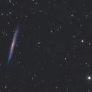 Knife Edge or Splinter Galaxy  - NGC 5907 - Celestron 8,                                Arnaud Peel