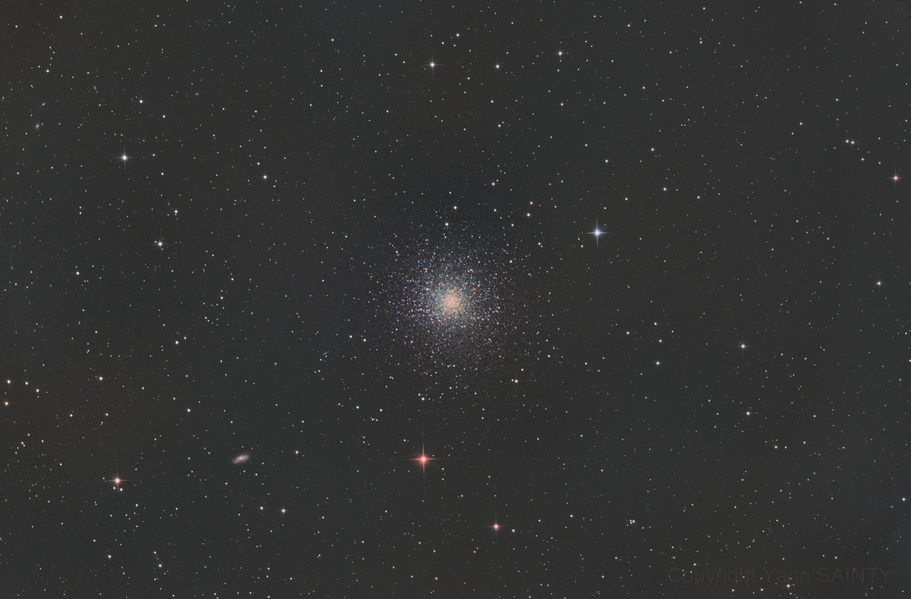 M13 during full Moon,                                Ysty