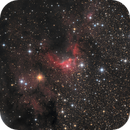 Cave nebula in LRGB-Ha,                                Vincent F