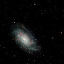 NGC2403 - Wideband and Narrowband combined,                                Roger Nichol