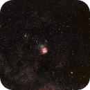 NGC 6531, IC 1274 and the Trifid nebula (NGC 6514) in Saggitarius,                                Ian Dixon
