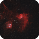 IC 405 Flaming Star - IC 410 Tadpole 20200921 20400s Ha-OIII 04.2.3,                                Allan Alaoui