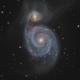 M51 - Whirlpool Galaxy - Mar 2020 v1 crop,                                Martin Junius