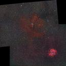 NGC 2264 und NGC 2237 - Mosaik (135 mm),                                Wolfgang Zimmermann