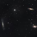 Triplet du Lion - M65, M66, NGC3628,                                Daniel Fournier