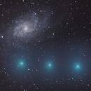 Cometa 8P Tuttle incontra M 33,                                Michele Bortolotti ed Erika Mocci