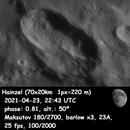 Moon crater Hainzel - 2021-03-24,                                xavier