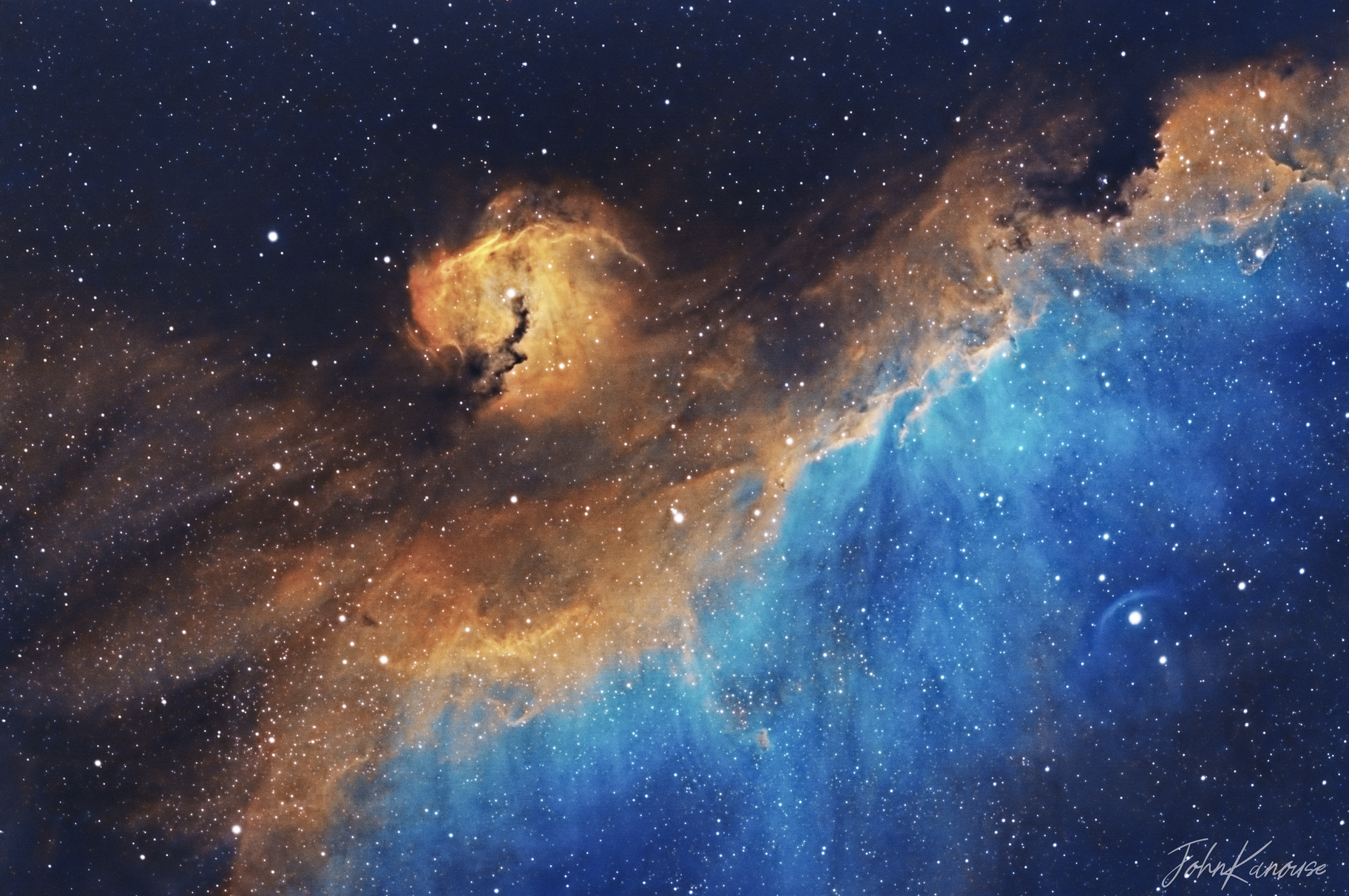 IC2177 The Seagull Nebula,                                John Kanouse