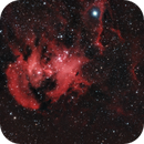 IC2944 - Running Chicken Nebula (March 2021, CEM26 first light image),                                Cluster One Observatory