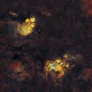NGC 6334 Cat's Paw Nebula - NGC 6357 Lobster Nebula 20210705 27900s SHO 01.3.2,                                Allan Alaoui