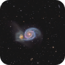 The Whirlpool Galaxy -  M51 - New MIX Halpha and LRGB,                                Arnaud Peel