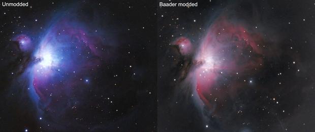 M42 confronto tra Canon Baader mod e unmodded,                                Giuseppe Nicosia