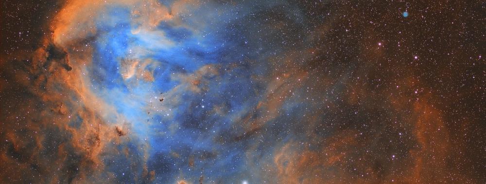 Running Chicken Nebula - IC 2944 and little planetary nebula - PK294-0.1,                                Trần Hạ