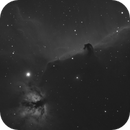 Horsehead and Flame Nebulae in Hydrogen Alpha,                                James Newman