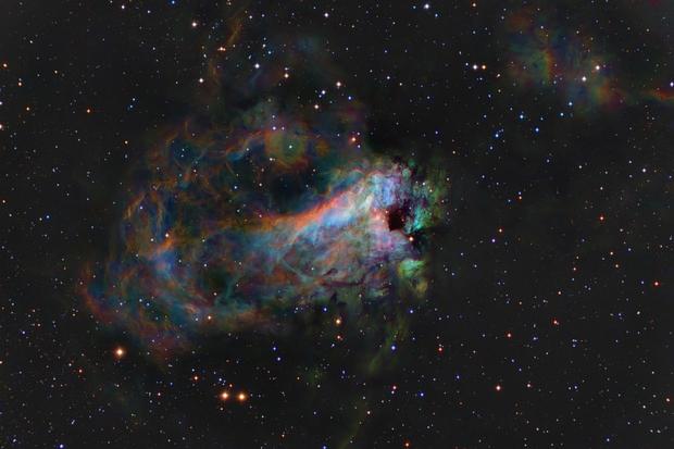 M17 - First-Light for a new mount,                                equinoxx
