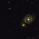 Whirlpool Galaxie M51 in Canes Venatici,                                Bernd Neumann