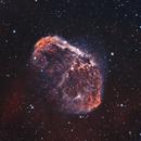 NGC 6888 Crescent Nebula 20210525 14200s HOO 01.4.3,                                Allan Alaoui
