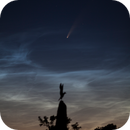 Comet C/2020 F3 (NEOWISE) and Noctilucent Clouds (f=200 mm),                                HenrikE