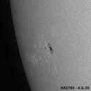 Sunspot region AR2765 time lapse,                                Johannes D. Clausen