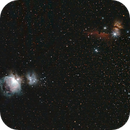 Widefield: From the flame nebula to Orion,                                Gendra