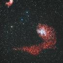 IC 405 the Flaming Star Nebula and part of IC 410 Nebula  in Auriga,                    RonAdams
