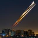 Lockdown moonrise,                                Amir H. Abolfath