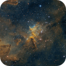 Melotte 15 - the centre of IC 1805 in narrow Band,                                Thomas Klemmer