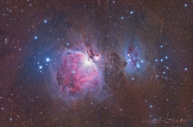Orion and Running Man nebulas,                                Joe Beyer
