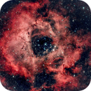 Rosette Nebula in Bortle 8++,                                minhlead