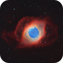Helix nebula in narrowband Hubble palette (NGC 7293),                                Trần Hạ