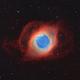 Helix nebula in narrowband Hubble palette (NGC 7293),                                Trần Hạ